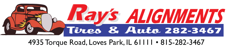 Ray's Alignments Tire & Auto, 4935 Torque Rd, Loves Park IL, (815) 282-3467